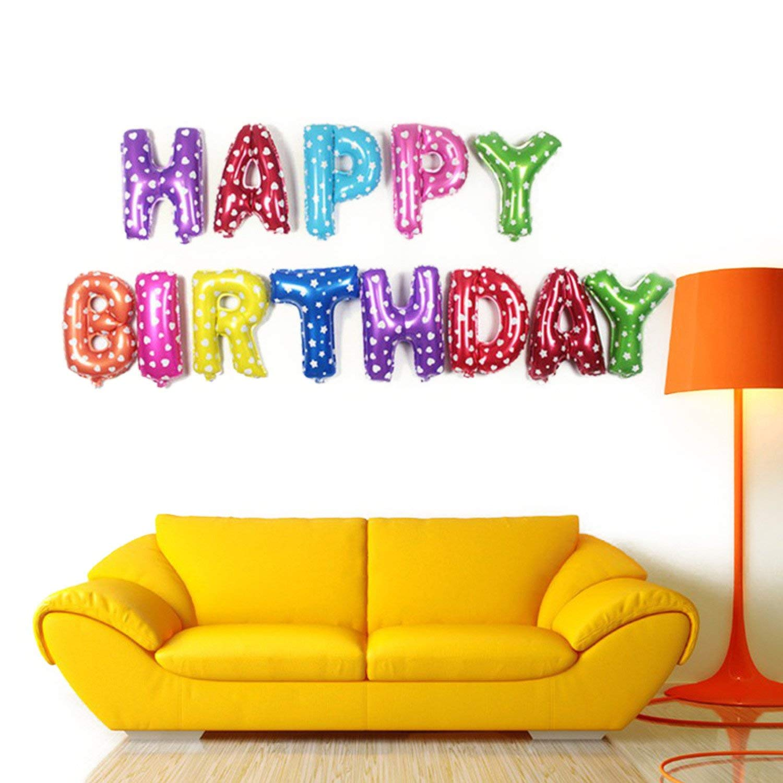 Happy Birthday Letter Foil Balloon