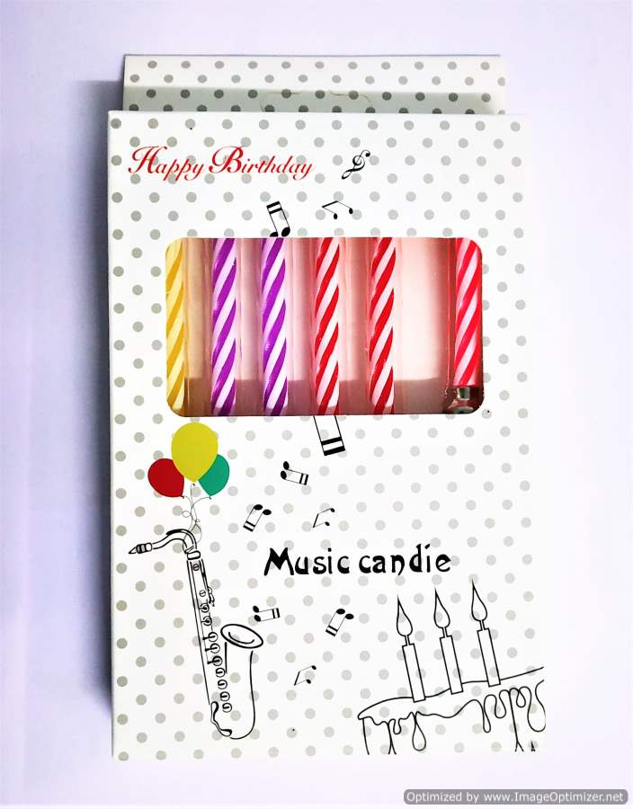 Musical Birthday Candle Set 6pc